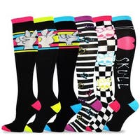 TeeHee Women's Multicolor Cotton Novelty Knee-high Fun Socks (6 Pack )