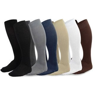 Teehee Men's Viscose Assorted Color Over-the-calf Dress Socks (6 Pack )