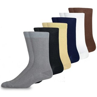 TeeHee Men's Viscose Crew Dress Socks (Pack of 6)