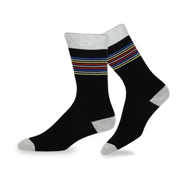 6 Pairs Men/'s Size 10-13 Stripes Polka Dots Fashion Dress Socks Stocking Stuffer