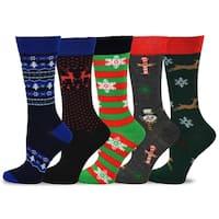TeeHee Women's Christmas and Holiday Fun Crew Socks (Pack of 5)