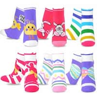 TeeHee Women's Assorted Easter Day Fashion No-show Socks (Pack of 6)