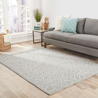 "Juniper Indoor/ Outdoor Floral Blue/ Tan Area Rug - 7'6"" x 9'6"""