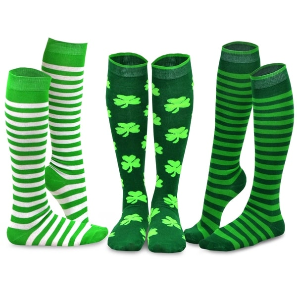b5caa451663 Shop TeeHee St. Patricks Day Cotton Knee High Socks for Women 3-Pack ...