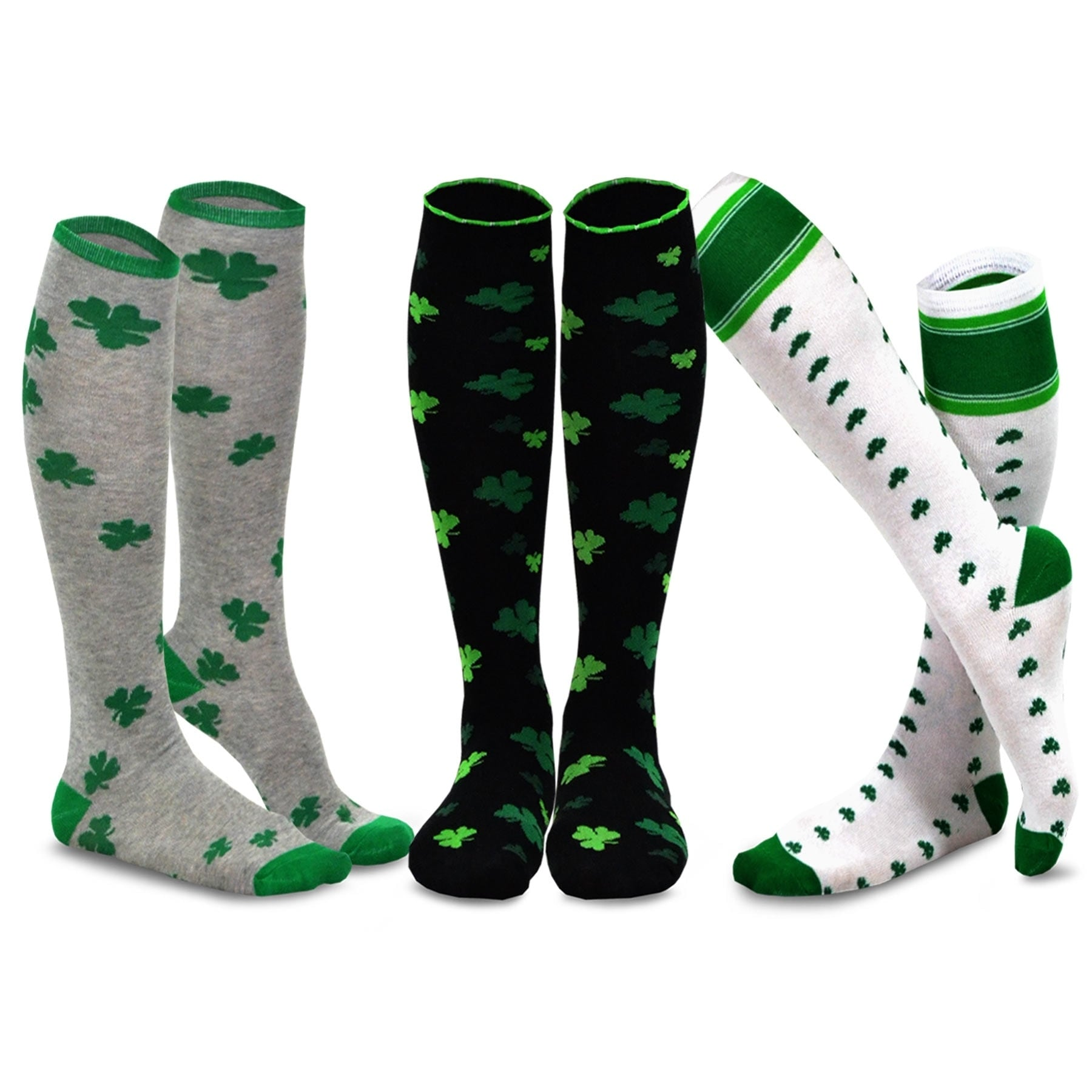 Womens 1 Pair Stockings Patricks Day Pattern Thigh High Stockings For Womens Breathable St