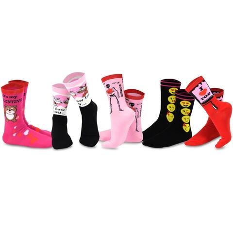TeeHee Valentines Day Love Womens Crew Socks 5-Pack