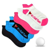 TeeHee Women's Golf Socks No Show Socks 6-Pairs Assorted