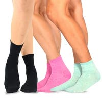 TeeHee Women's Fashion Ankle Socks, 3 Pair combo