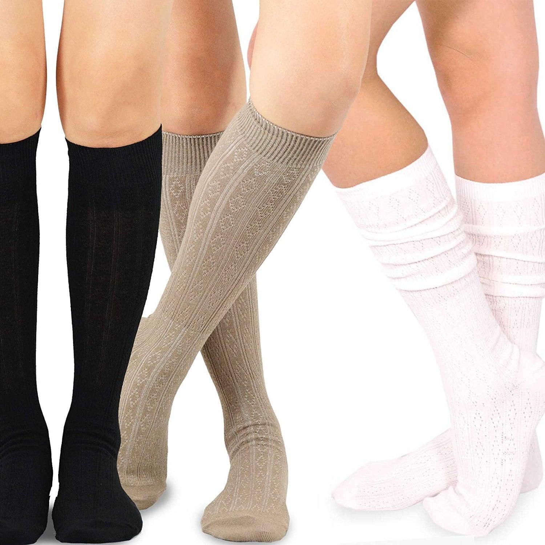 Teehee Women's Fashion Pointelle Cotton Knee-high Socks (...