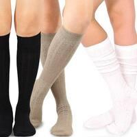 Teehee Women's Fashion Pointelle Cotton Knee-high Socks (Pack of 3 Pairs)