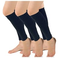 TeeHee Viscose from Bamboo Footless Compression Sleeve with Rib 3-Pack (Navy)