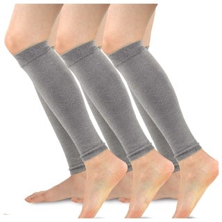 TeeHee Viscose from Bamboo Footless Compression Sleeve with Rib 3-Pack (Grey)