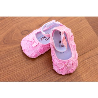 Light Pink Rose Baby Shoes