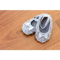 Grey Rose Baby Shoes