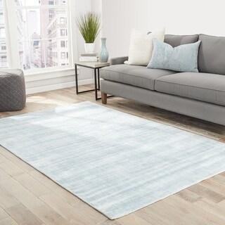 "Lizette Handmade Solid Light Blue Area Rug (8' X 10') - 7'10"" x 9'10"""