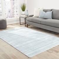 Lizette Handmade Solid Light Blue Area Rug (8' X 10') - 8' x 10'