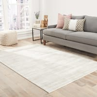 """Lizette Handmade Solid Silver Area Rug (8' X 10') - 7'10"""" x 9'10"""""""