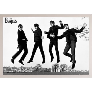 The Beatles Jump 2 Poster in a White Plastic Frame (36x24)