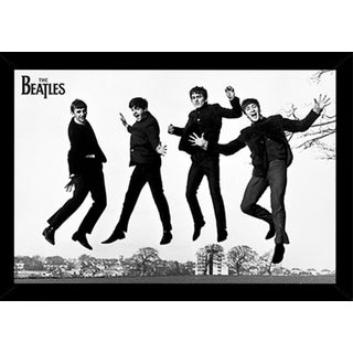 The Beatles Jump 2 Poster in a Black Poster Frame (36x24)