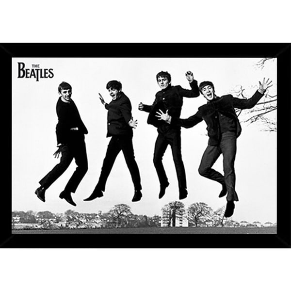 Shop The Beatles Jump 2 Poster in a Black Poster Frame (36x24 ...