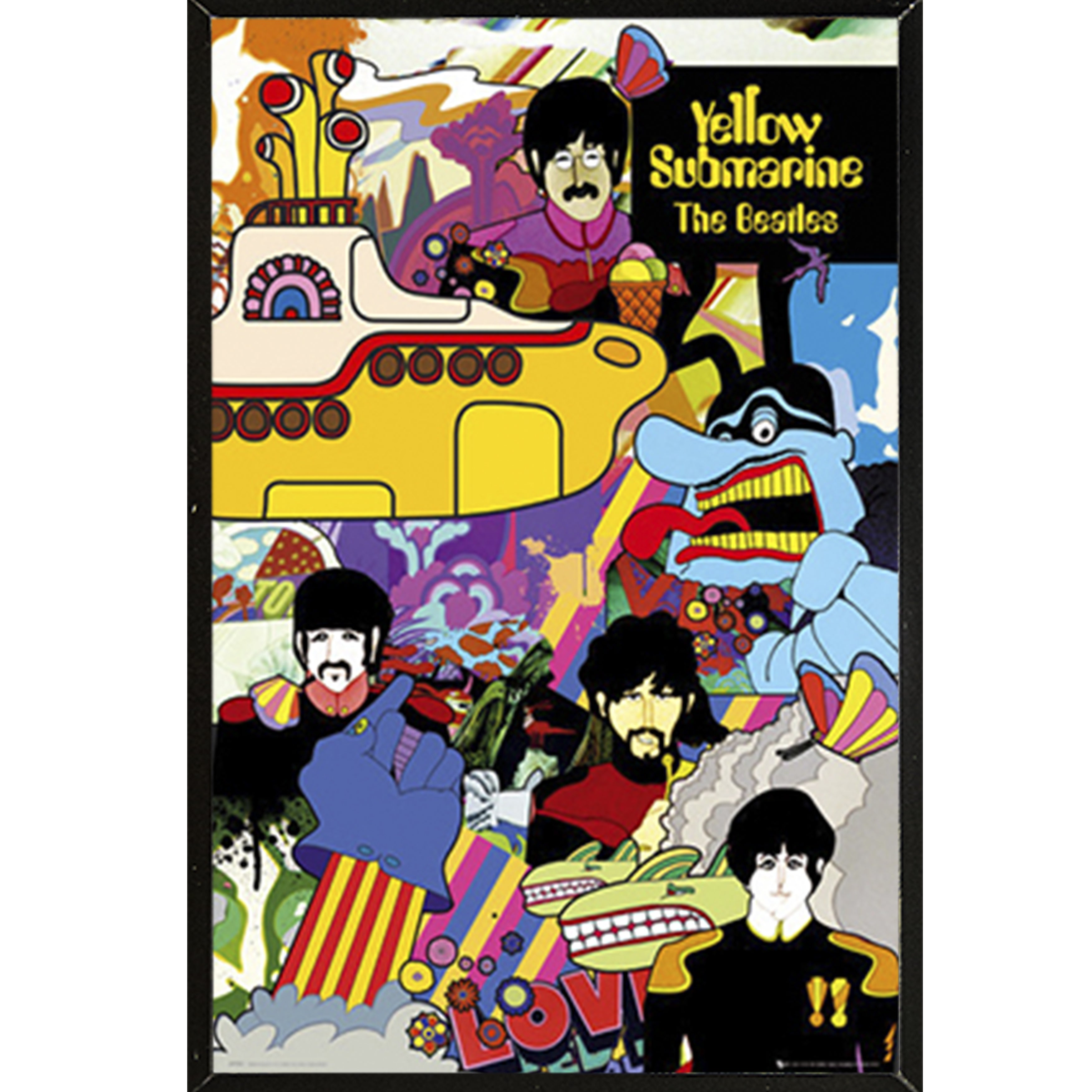 Beatles Yellow Submarine Giant Wall Art New Poster Print Picture