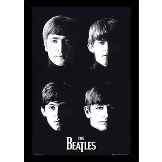 The Beatles With The Poster in a Black Wood Frame (24x36)