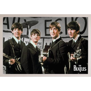 The Beatles Daily Echo Poster in a White Plastic Frame (36x24)