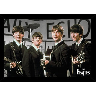 The Beatles Daily Echo Poster in a Black Wood Frame (36x24)