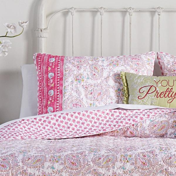 Noni Pink Paisley Cotton Standard Sham