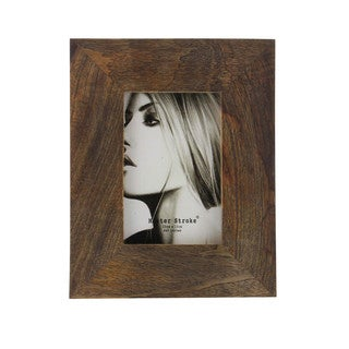 Benzara Brown Wood 7 x 9-inch Picture Frame