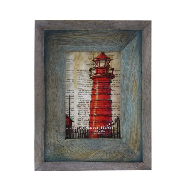Particolored Barn Wood Photo Frame