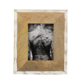 Antiqued Sterling Brown Photograph Frame