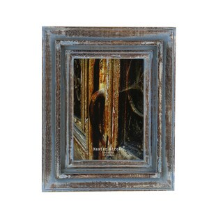 Aged Appeal Wood Photo Frame In Blue And Brown