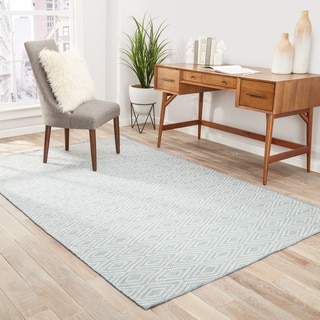 Sedona Indoor/ Outdoor Geometric Blue/ Beige Area Rug (2' X 3')