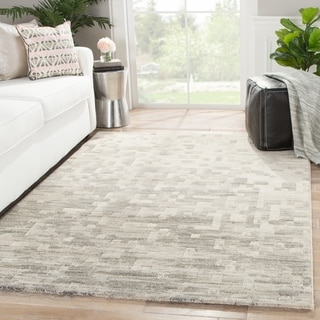 Matrix Abstract Gray Area Rug (2' X 3')