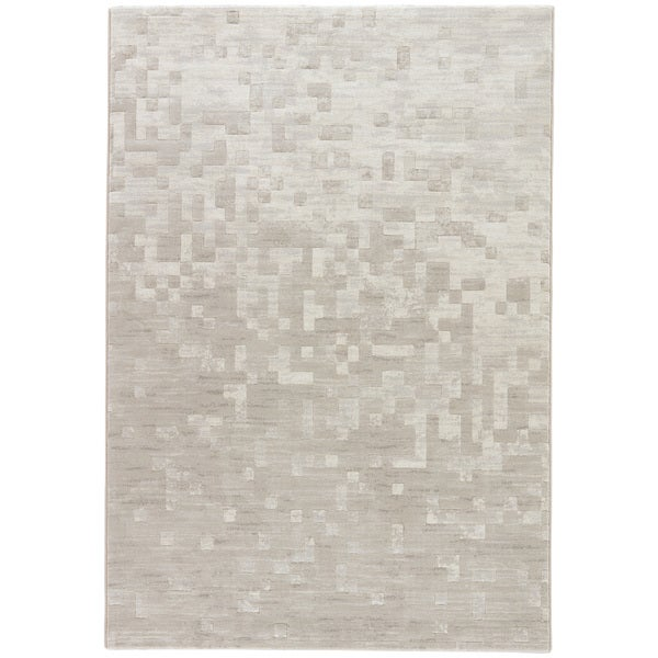 Matrix Abstract Taupe/ Gray Area Rug (2' X 3') - 2' x 3'