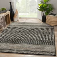 Warren Geometric Black/ Gray Area Rug - 2' x 3'