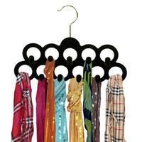 Home Basics 3-Pack Velvet Scarf Hangers in Assorted Colors
