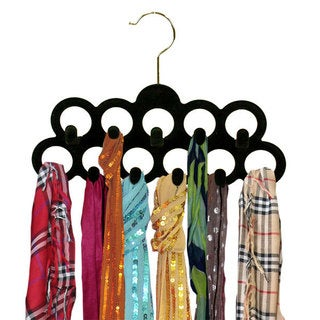 Home Basics 3-Pack Velvet Scarf Hangers in Assorted Colors