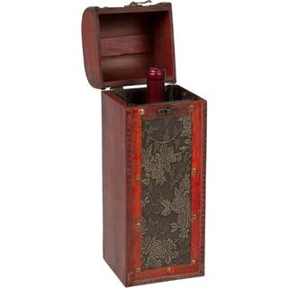 Trademark Innovations Treasure Chest Wooden Wine Box