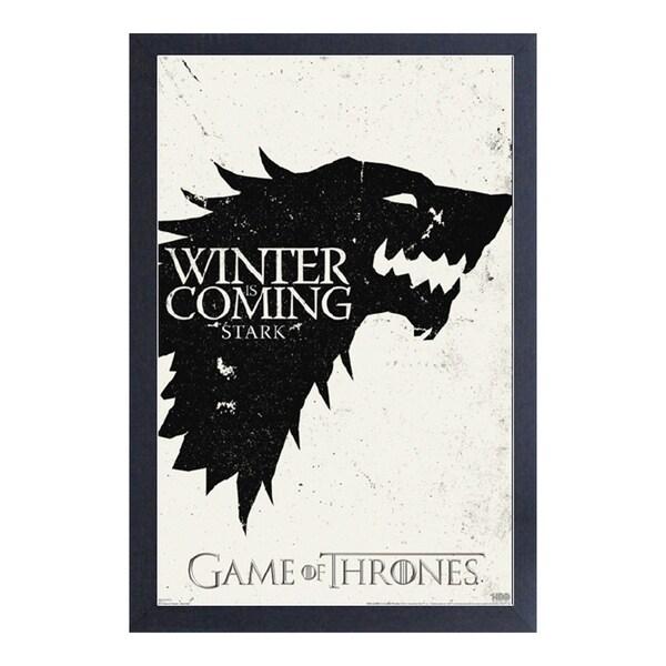 Shop Game of Thrones - Stark Sigil - Framed 11x17 print - Free ...
