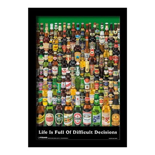 Beer - Life is Full of Decisions- Framed 11x17 print
