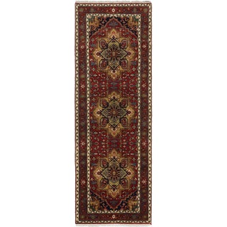 eCarpetGallery Hand-knotted Serapi Heritage Brown Wool and Cotton Rug (4'1 x 11'11)