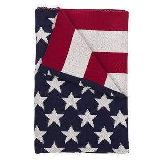 Patriotic US American Flag Throw