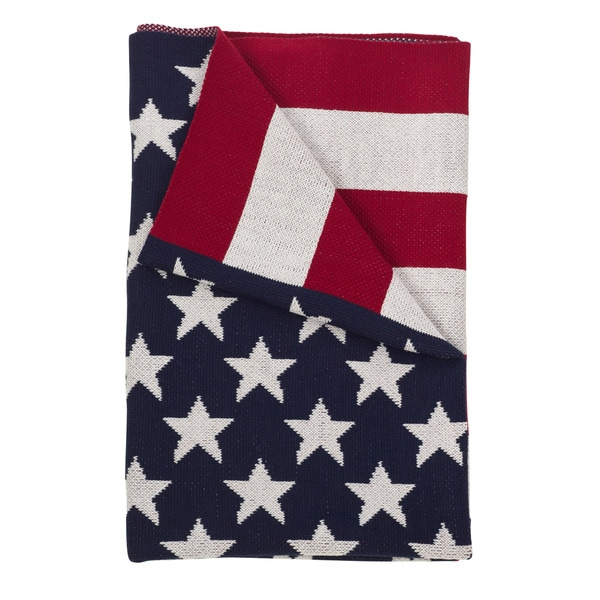Patriotic US American Flag Throw