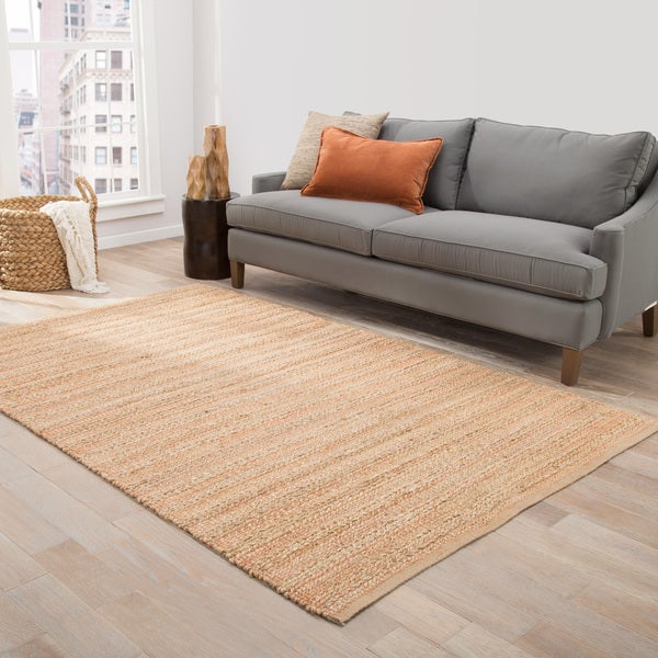 "Solis Natural Stripe Beige/ Red Area Rug (2'6"" x 4') - 2'6"" x 4'"