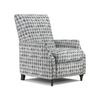 ProLounger Blue Houndstooth Push Back Recliner Chair