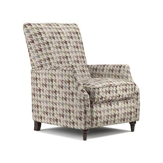 ProLounger Purple Houndstooth Push Back Recliner Chair