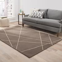 Toledo Handmade Geometric Brown/ Beige Area Rug - 2' x 3'