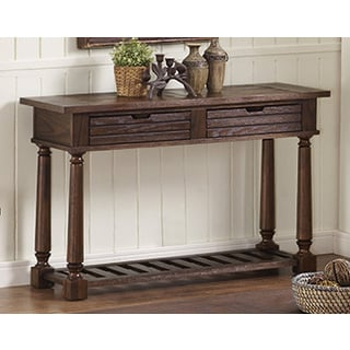 Bernards Laredo Brown 2-drawer Sofa Table